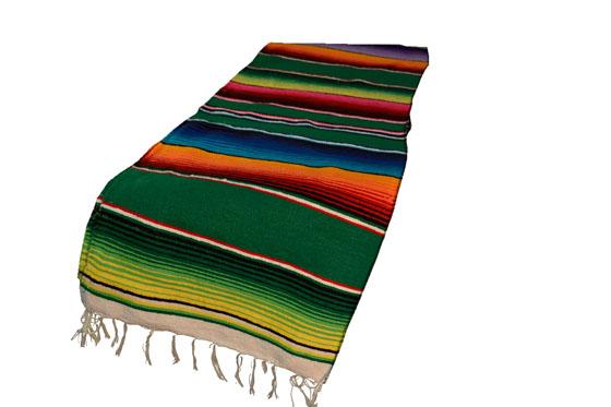 Mexican table blanket, Serape. Green