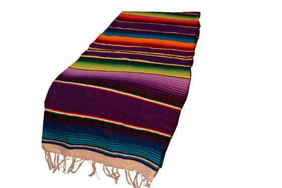 Mexican table blanket, Serape. Purple