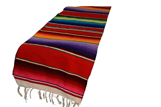 Mexican table blanket, Serape. Red
