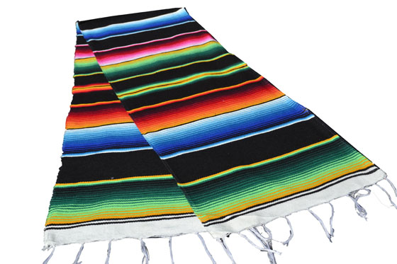 Chemin de table -  Serape - S - Noir