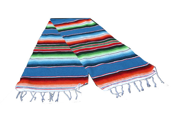 Chemin de table -  Serape - S - Blue