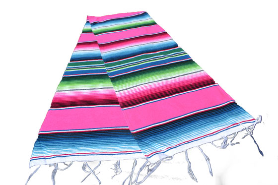 Chemin de table -  Serape - S - Rose
