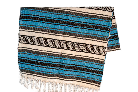 Mexican blanket,Falsa. Blue