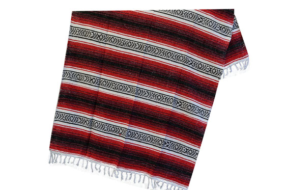 Mexican blanket,Falsa. Red