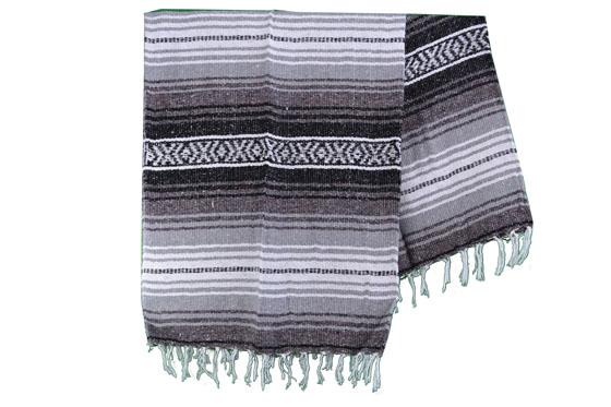 Mexikanische Decke -  Falsa - L - Grau  - MSXZZ0grey2