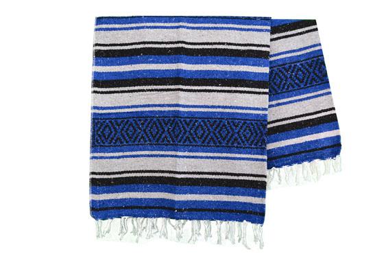 Mexican blanket - Falsa - L - Blue - MTXZZ0blugrey