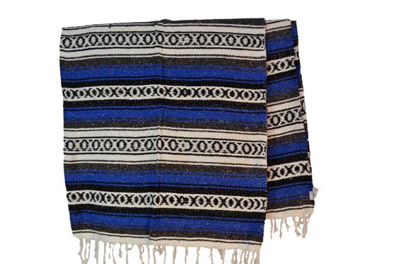 Mexicaanse deken - Falsa - XL - Blauw