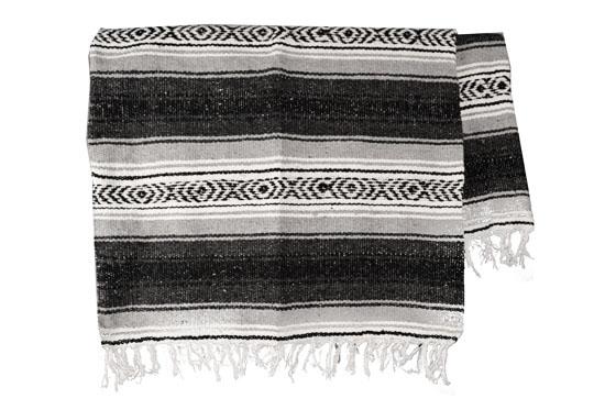 Mexikanische Decke -  Falsa - XL - Grau