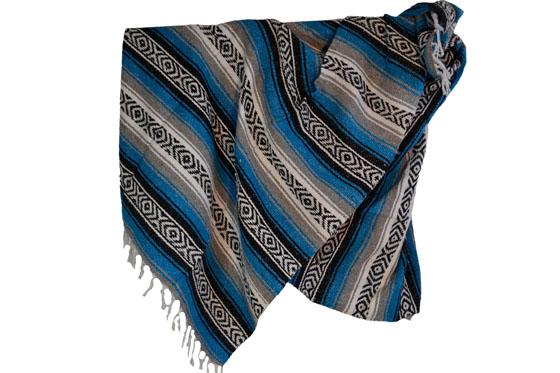 Mexican blanket - Falsa - XL - Turquoise - MUDZZ0turq1