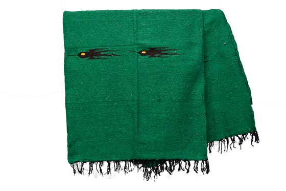 Mexican blanket - Solid - L - Green - QEEZZ0green4