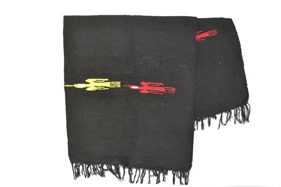 Mexicaanse deken - Effen - L - Zwart - QEXZZ0black1
