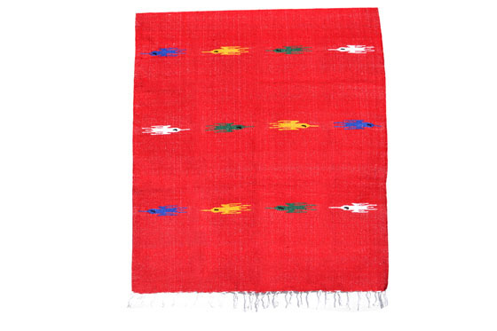 Couverture mexicaine -  Unie - L - Rouge - QEXZZ0red