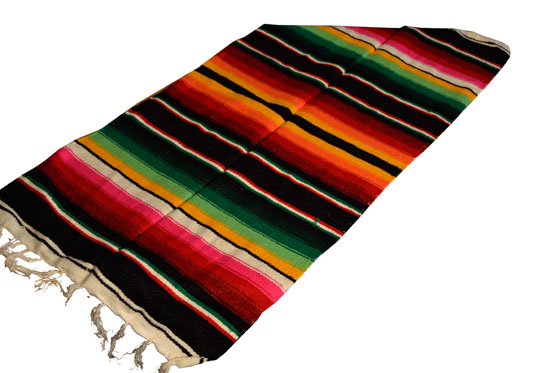 Scarf   Table runner,Serape. Black