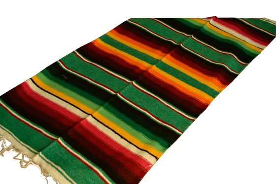 Scarf Table runner,Serape. Green