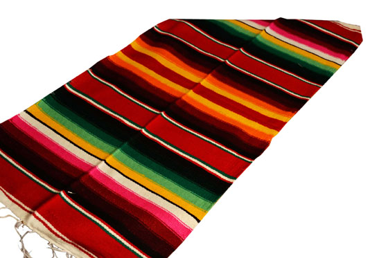 Scarf   Table runner,Serape. Red