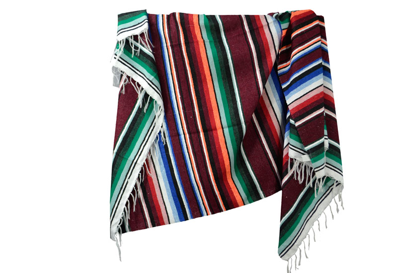 Mexican blanket - Serape - XL - Pink - ABMZZ0brown1