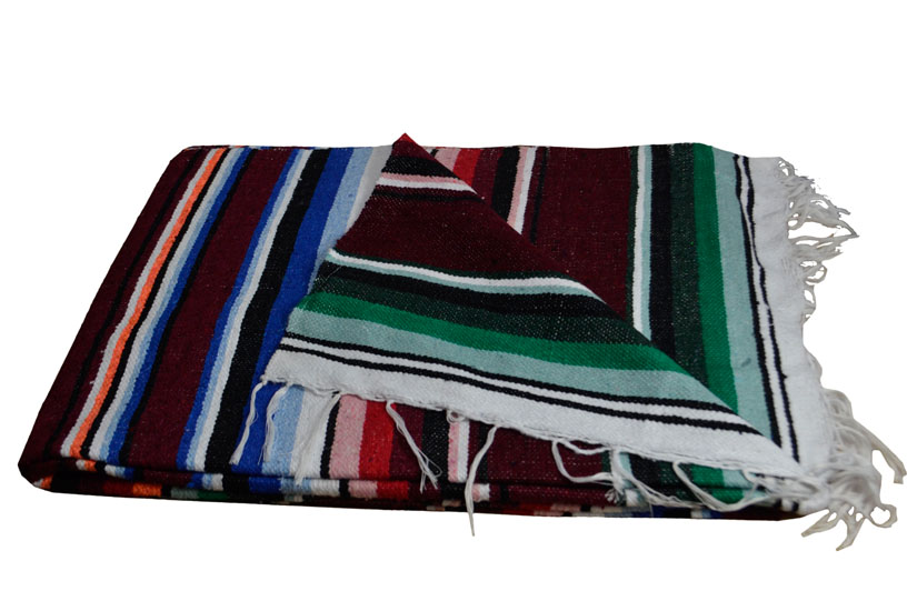 Mexikanische Decke -  Serape - XL - Rose  - ABMZZ0brown1