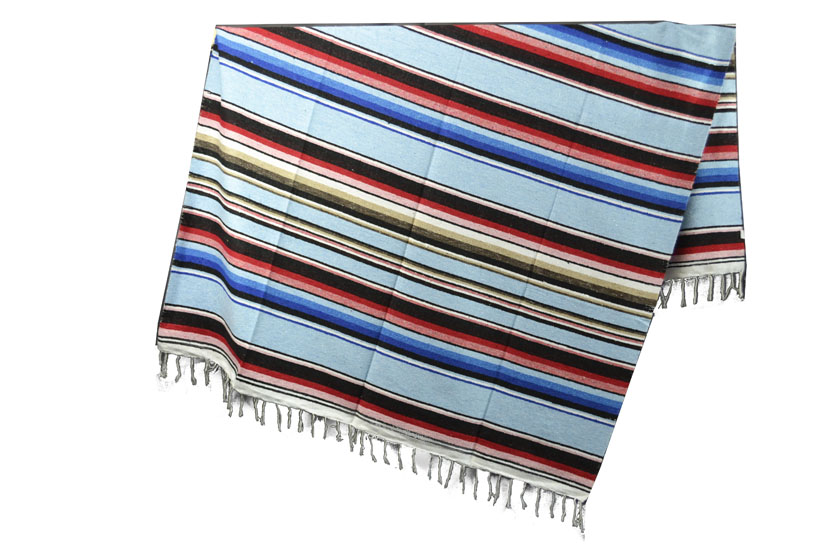 Mexikanische Decke -  Serape - XL - Rose  - ABMZZ0lightblu