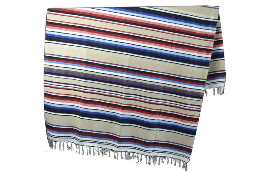 Mexikanische Decke -  Serape - XL - Rose  - ABMZZ0natural1