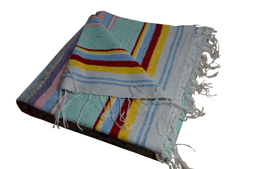 Couverture mexicaine -  Serape - XL - Rose - ABMZZ0pastelmint