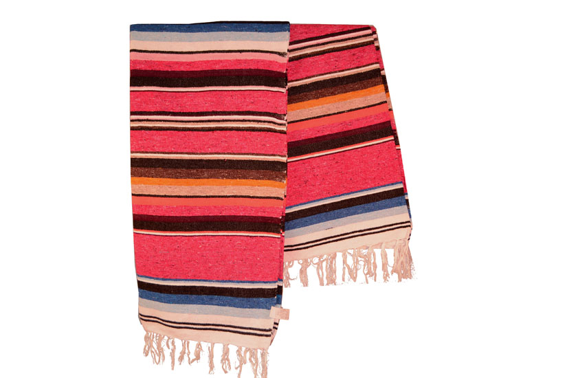 Mexican blanket,Serape. Pink