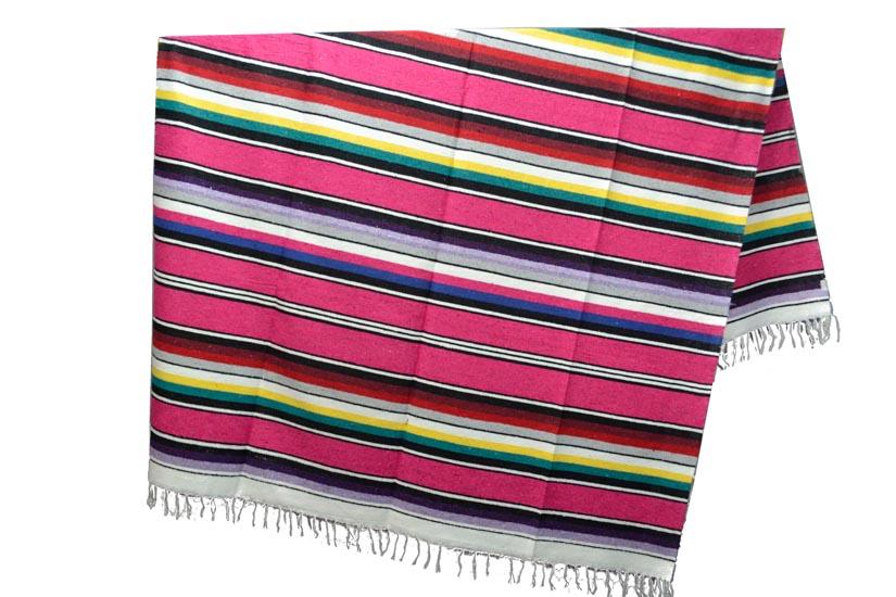 Mexican blanket - Serape - XL - Pink