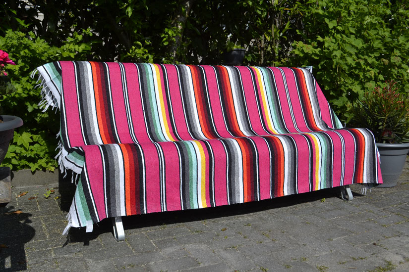 Mexican blanket - Serape - XL - Pink - ABMZZ0pink4
