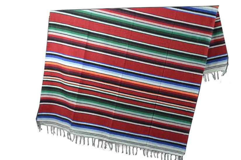 Mexicaanse deken - Serape - XL - Rood - ABMZZ0red4