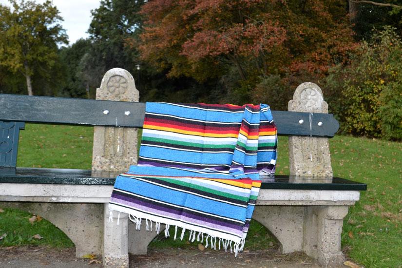 Mexicaanse deken - Serape - XL - Blauw