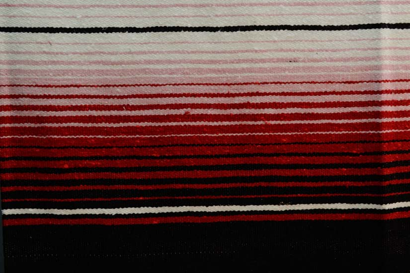 Mexican blanket, Serape. Black