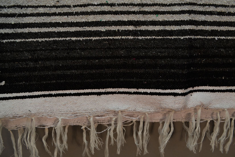 Mexican blanket,Serape. Black