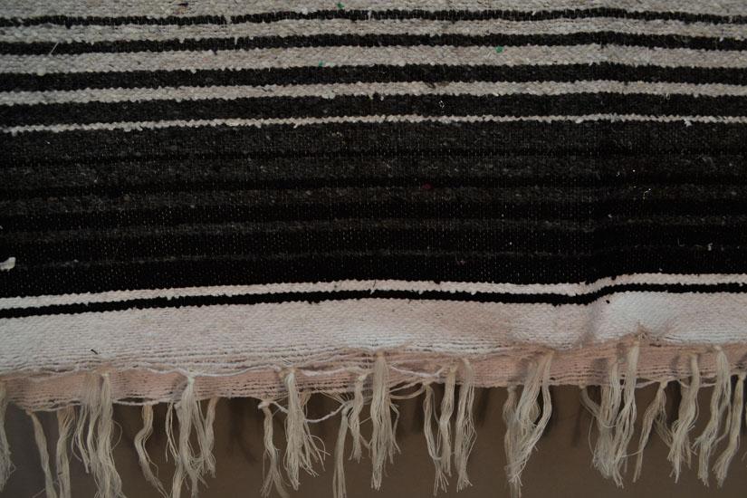 Mexican blanket, Serape. Black