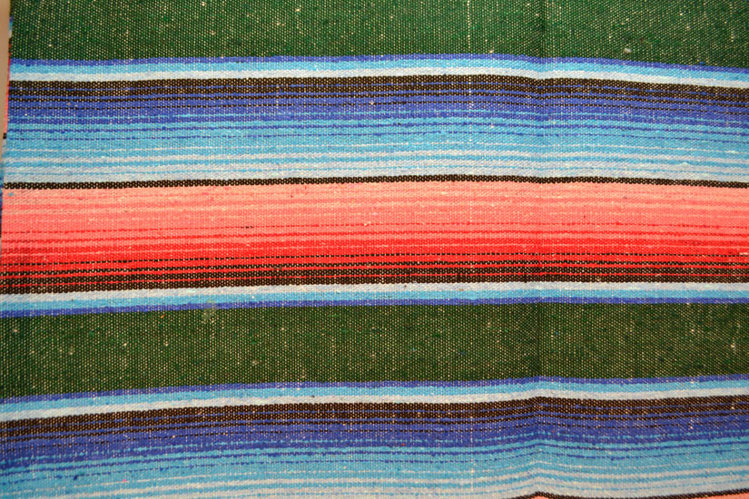 Mexican blanket, Serape. Green