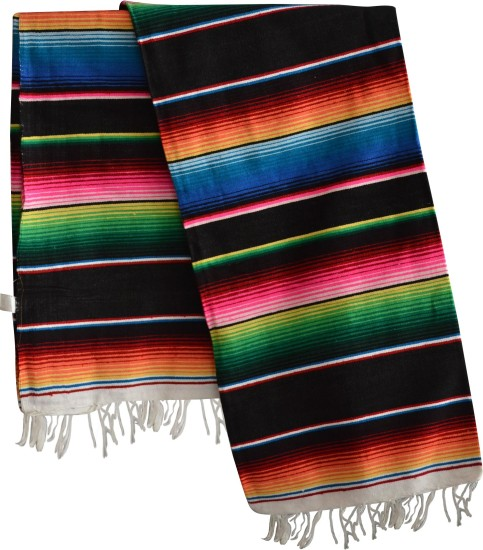 Couverture mexicaine -  Serape - XL - Noir - BBBZZ0black