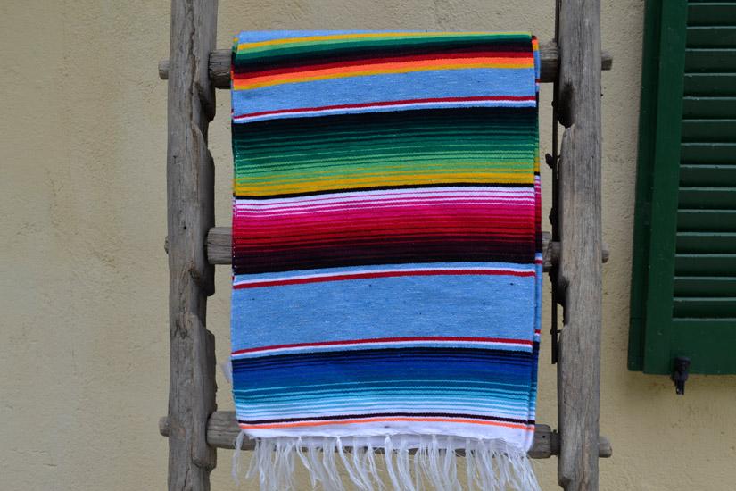 Coperta messicana -  Serape -  XL -  Blu