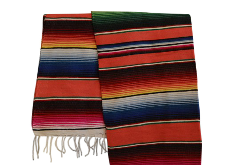 Mexican blanket, Serape. Orange