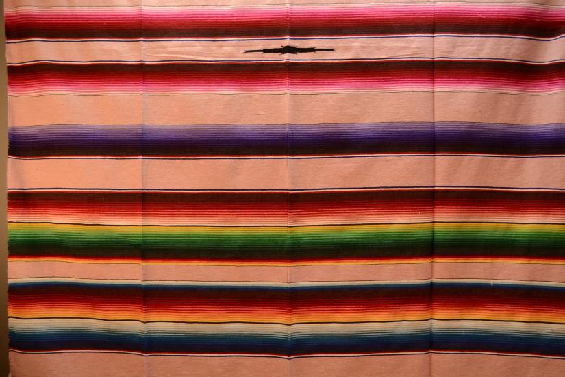 Mexican blanket, Serape. Pink