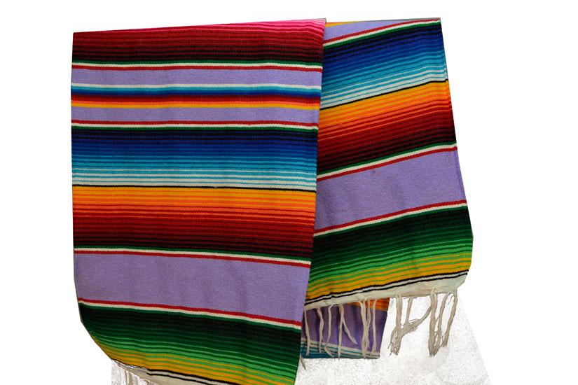 Mexican blanket, Serape. Violet