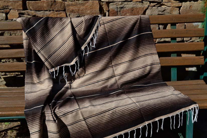 Mexican blanket, Serape. Brown