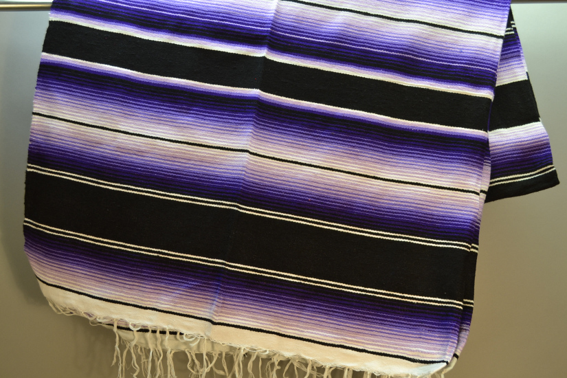 Couverture mexicaine -  Serape - XL - Violet - BBBZZ1blackpurple1