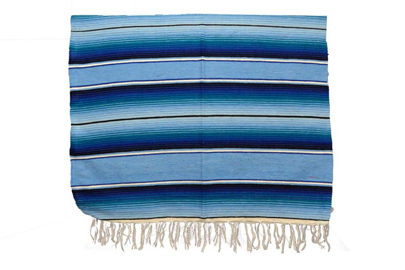Couverture mexicaine -  Serape - XL - Blue