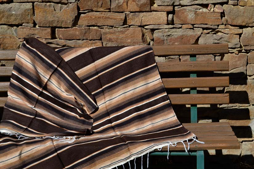 Mexican blanket, Serape. Brown