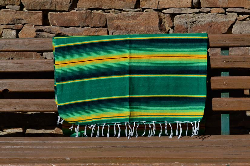 Mexican blanket - Serape - XL - Green - BBBZZ1greenyellow1
