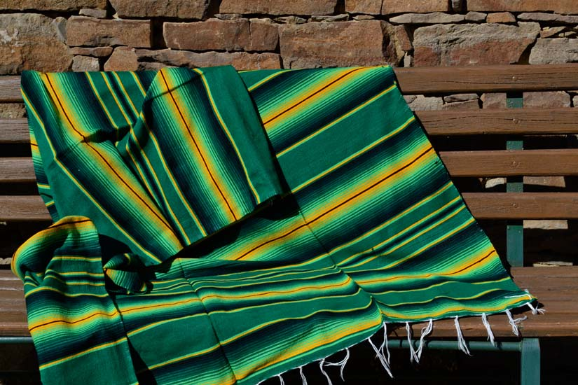 Mexican blanket - Serape - XL - Green