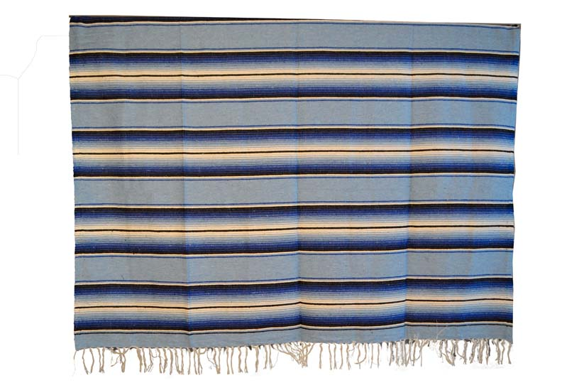 Couverture mexicaine -  Serape - XL - Blue - BBBZZ1lightblu