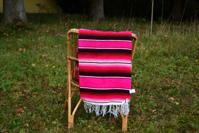 Couverture mexicaine -  Serape - XL - Rose - BBBZZ1pink1
