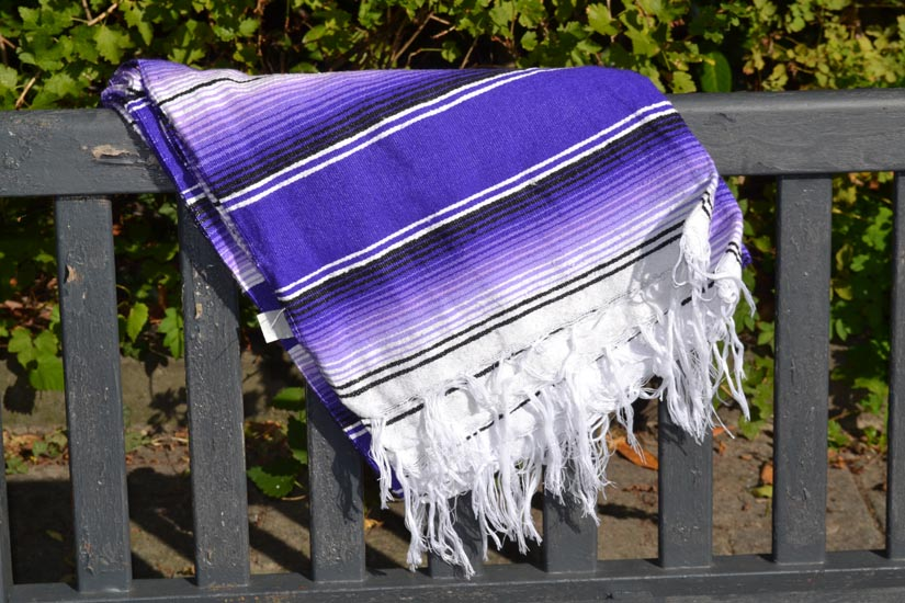 Couverture mexicaine -  Serape - XL - Violet - BBBZZ1purple1