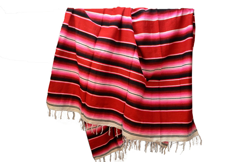 Mexican blanket,Serape. Red