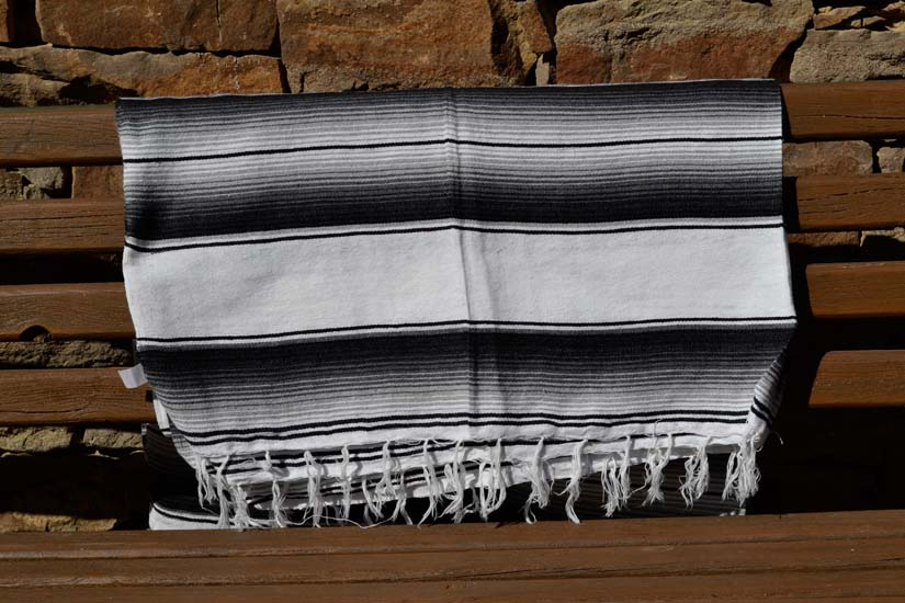 Mexican blanket,Serape. White
