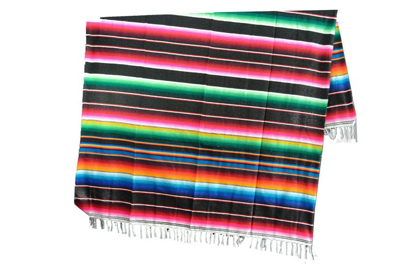 Coperta messicana -  Serape -  XL -  Nero - BBXZZ0black2
